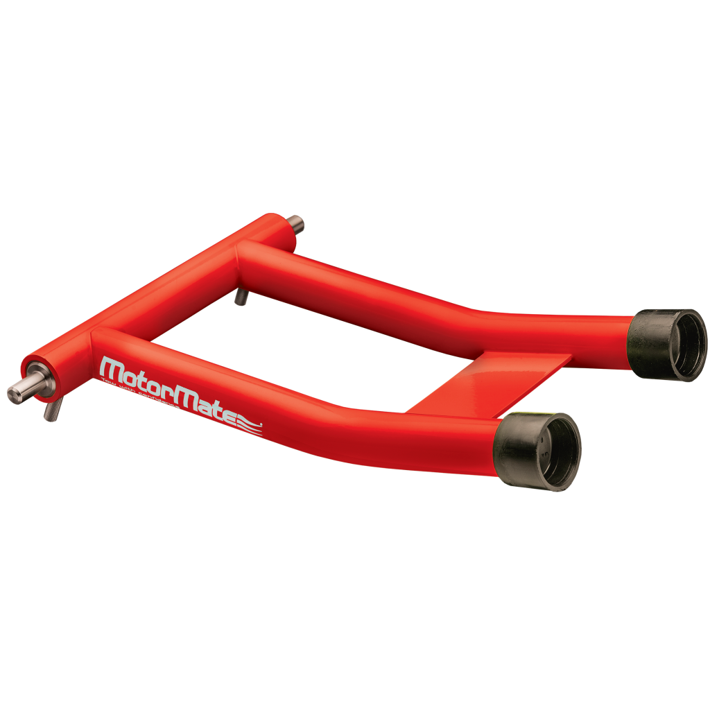 Red MotorMate support for trailering