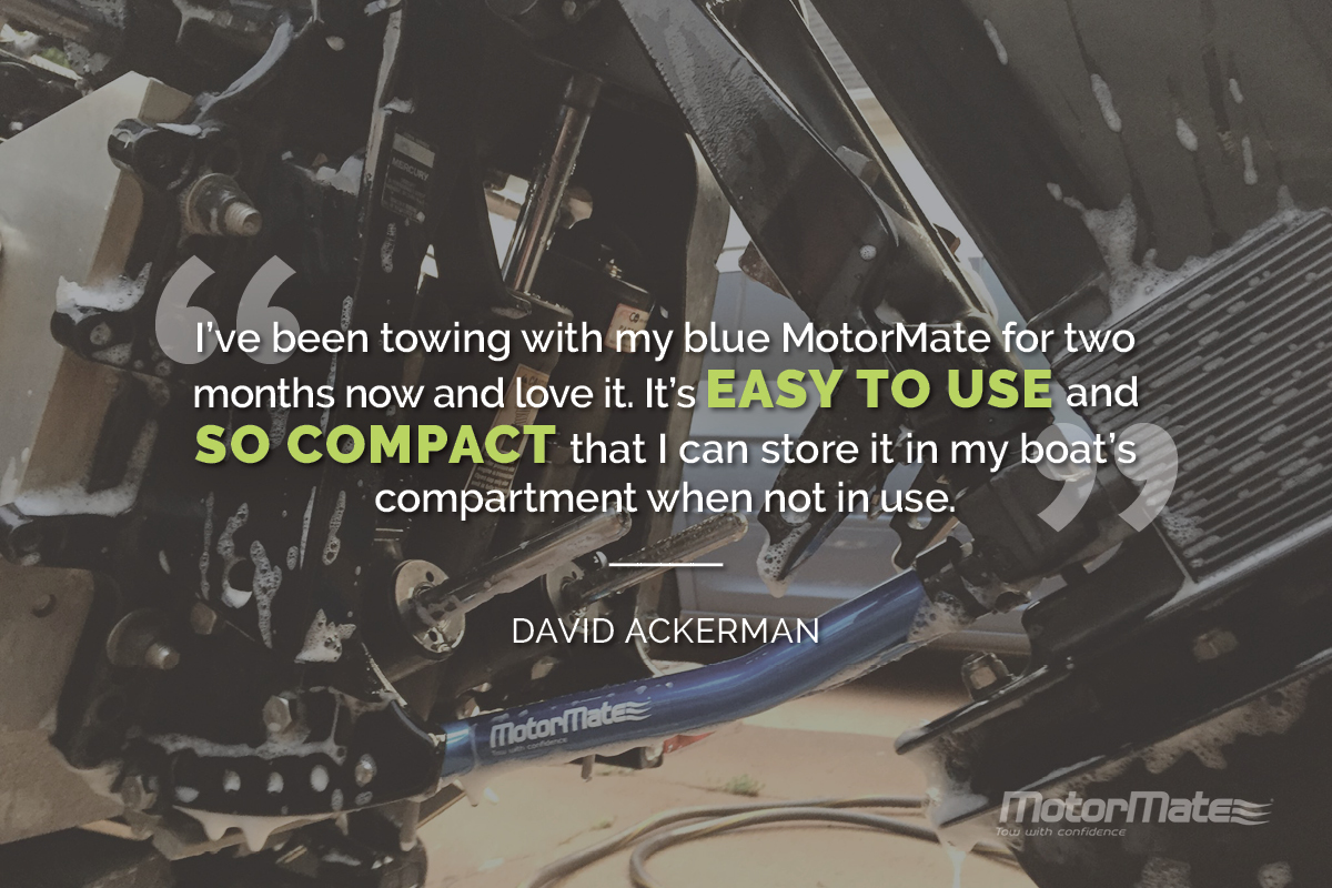 MotorMate Transom Saver Alternative Testimonial - David Ackerman