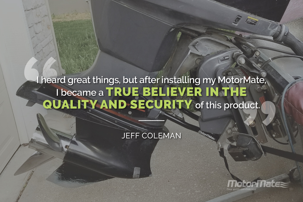 MotorMate Transom Saver Alternative Testimonial - Jeff Coleman